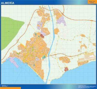 Mapa Almeria callejero enmarcado plastificado