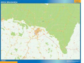 Mapa Braganca área urbana enmarcado plastificado