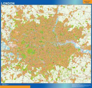 Mapa Gran Londres enmarcado plastificado