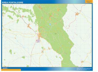 Mapa Portalegre área urbana enmarcado plastificado