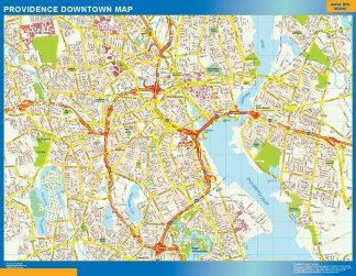 Mapa Providence downtown enmarcado plastificado
