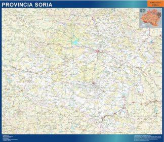 Mapa Provincia Soria enmarcado plastificado