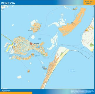 Mapa Venezia enmarcado plastificado