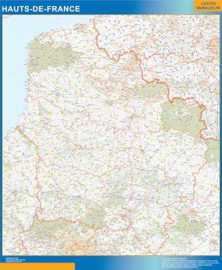 Region Hauts de France enmarcado plastificado