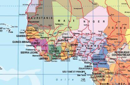 Mapa plastificado mundo zoom frances